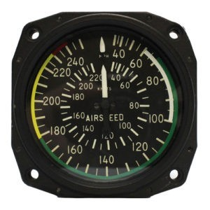 Air Speed Indicator 40-240 mph,40-220 Knots
